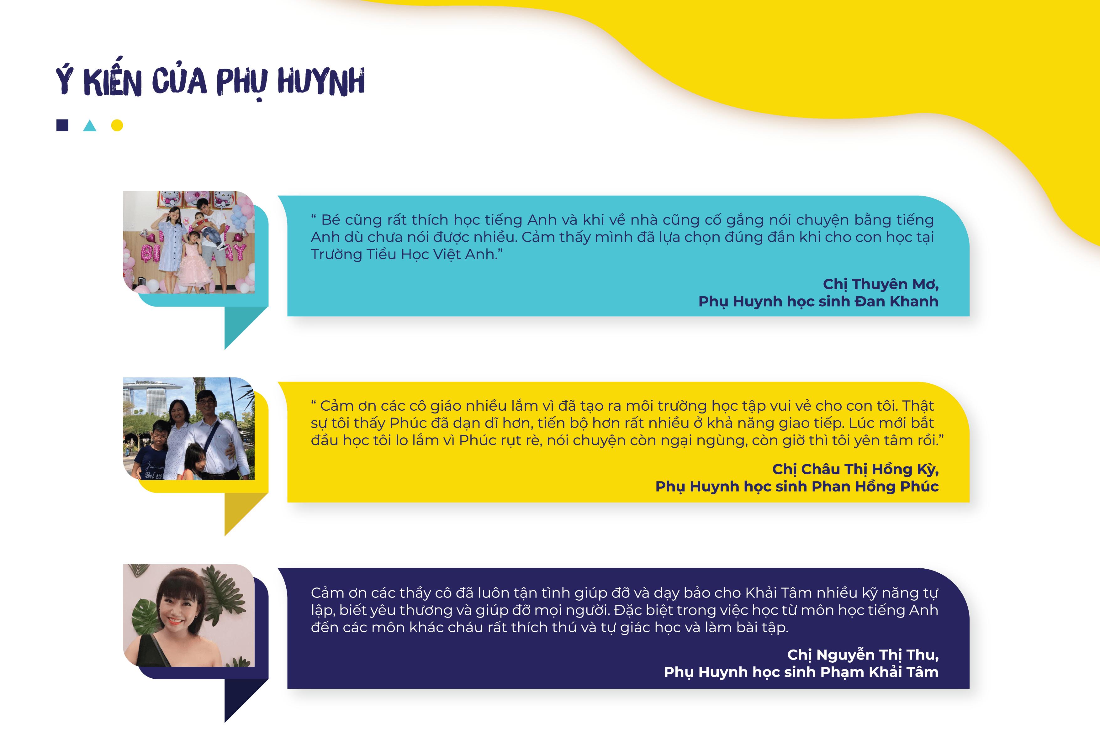 Ý kiến phụ huynh về Tiểu Học Việt Anh TPHCM 2020